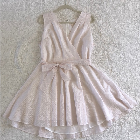 bce3ad1e6fb3e Maison Jules Dresses | Seersucker Pink And White Sun Dress | Poshmark